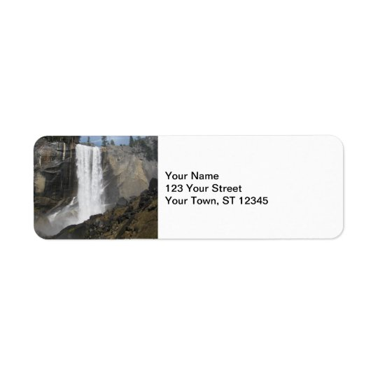 Vernal Falls- Yosemite Return Address Label