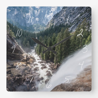 Vernall Fall and Mist Trail Square Wall Clock