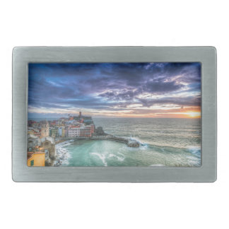 Vernazza at sunset, Italy Belt Buckle