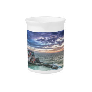 Vernazza is a beautiful rainbow coloured fishing v beverage pitcher