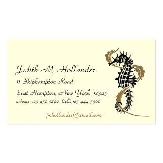 Verneuil Seahorse Art Nouveau Business Cards