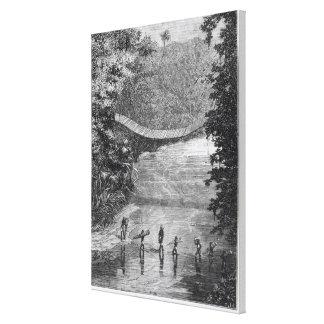 Verney Lovett Cameron (1844-94) Crossing the Lulin Canvas Print