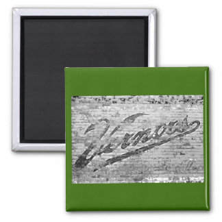 Vernors Wall 1999 Ann Arbor, Michigan Square Magnet