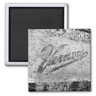 Vernors Wall 1999 Ann Arbor Michigan Square Magnet
