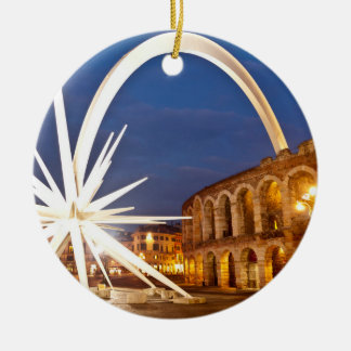 Verona Arena with Starburst Christmas Ornament