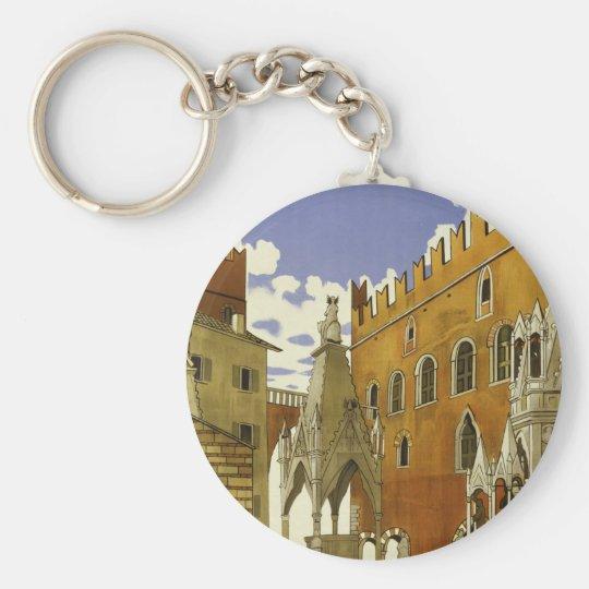 Verona Basic Round Button Key Ring