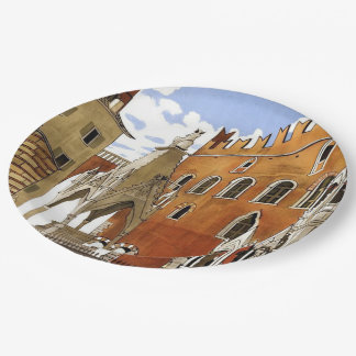 Verona CIty in Italy Paper Plate