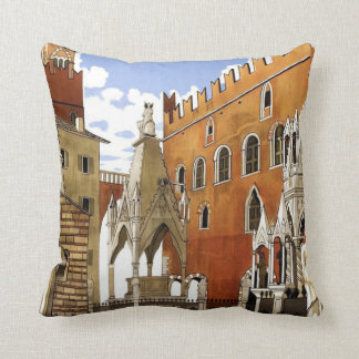 Verona CIty in Italy Throw Pillow