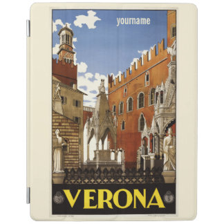 Verona Italy vintage travel device covers iPad Cover