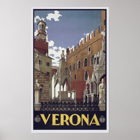 Verona Poster Vintage Classic City