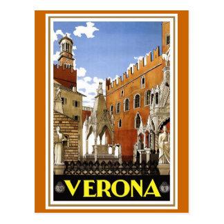 Verona Vintage Italian Travel Poster Postcard