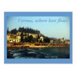 Verona, where love flows postcards