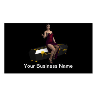 Veronica Coffin Vampire Pinup Pack Of Standard Business Cards