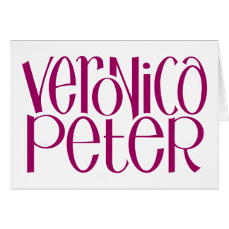 Veronica & Peter plum Card