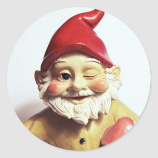 Veronica the Gnome Classic Round Sticker