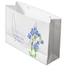 Veronica wedding blue flower girl favour gift bag