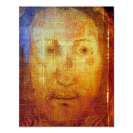 VERONICA'S VEIL THE SACRED FACE OF JESUS. POSTER