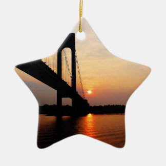 Verrazano Bridge at Dawn Christmas Ornament