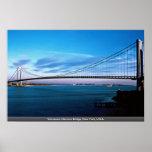 Verrazano-Narrows Bridge, New York, U.S.A. Print