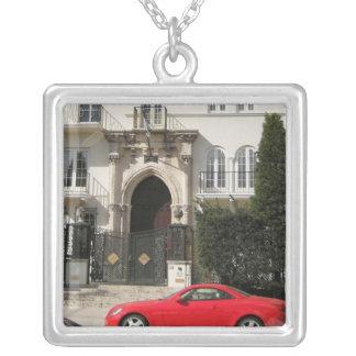 Versace Mansion Square Pendant Necklace