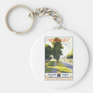 Versailles France Basic Round Button Key Ring