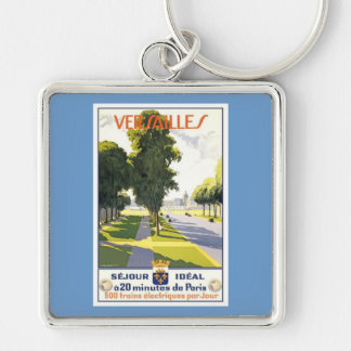 Versailles France Silver-Colored Square Key Ring