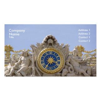 Versailles golden clock pack of standard business cards