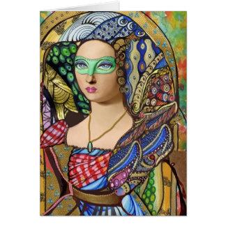 Versailles Masquerade Greeting Card