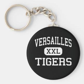 Versailles - Tigers - High - Versailles Missouri Basic Round Button Key Ring