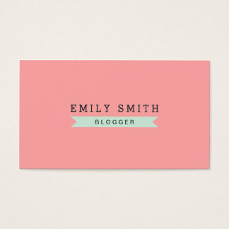 Versatile Social Media Pastel Pink and Mint Blue Business Card