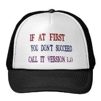 Version 1.0 trucker hat