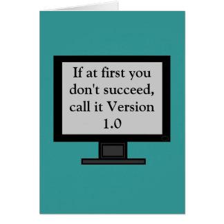 Version 1.0 Greeting Card