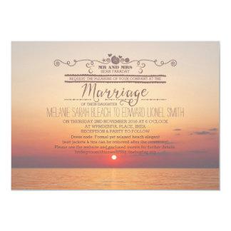 Version 2 Sunset Beach Destination Wedding 13 Cm X 18 Cm Invitation Card