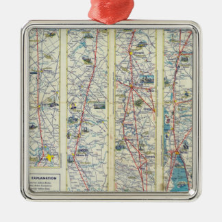 Verso American Airlines system map Christmas Ornament