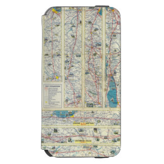 Verso American Airlines system map Incipio Watson™ iPhone 6 Wallet Case