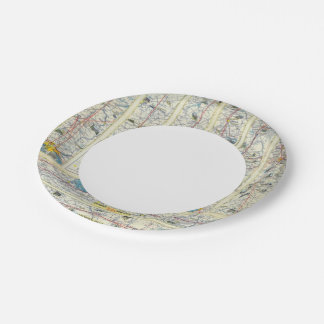 Verso American Airlines system map Paper Plate