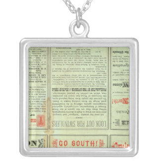 Verso State of Texas Silver Plated Necklace