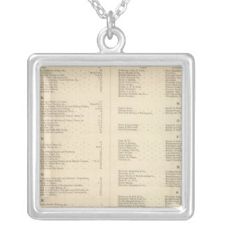 Verso Title Page Colton's American Atlas Silver Plated Necklace