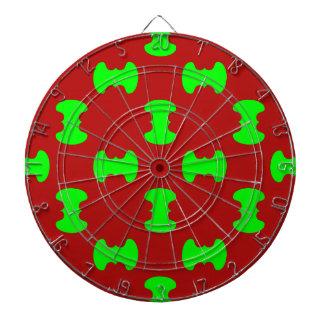 vert et rouge dart boards