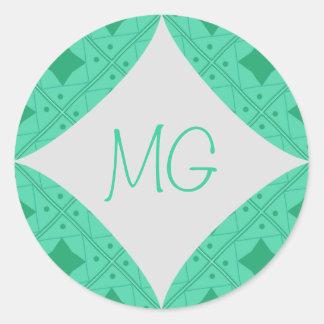 vert pattern round sticker