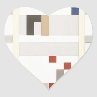 Vertical and horizontal composition Sophie Taeuber Heart Sticker