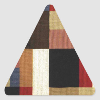 Vertical and horizontal composition Sophie Taeuber Triangle Sticker