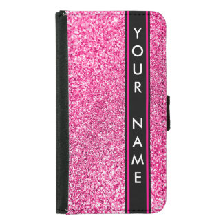 Vertical Bar Customized Glitter Pink Background
