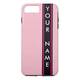 Vertical Bar Customized Pink Background iPhone 8 Plus/7 Plus Case