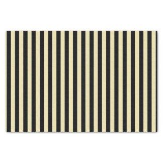 Vertical Beige and Black Stripes Tissue Paper