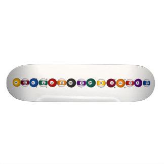 Vertical Billiards / Pool Balls - Skateboard