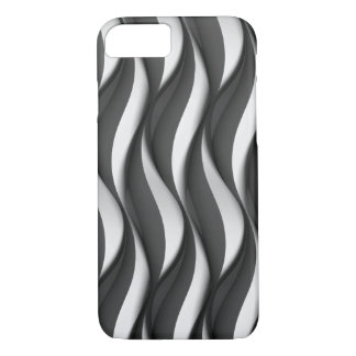 vertical black and white wave pattern iPhone 8/7 case
