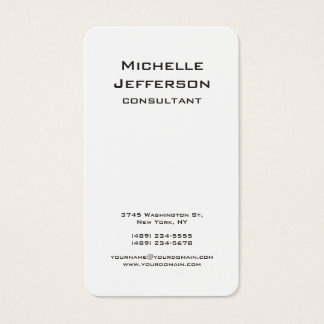 Vertical Black & White Modern Stylish Trendy Business Card