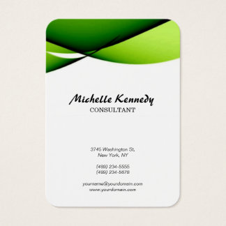 Vertical Chubby Abstract Curves Green White Script
