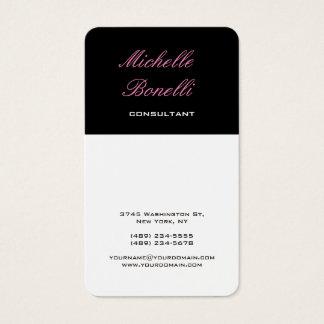Vertical Classical Feminine Stylish Trendy Business Card